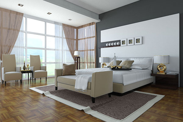 Large Modern Bedroom
