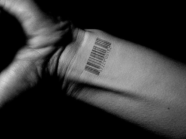 Wrist tattoo on barcode done in amazing details