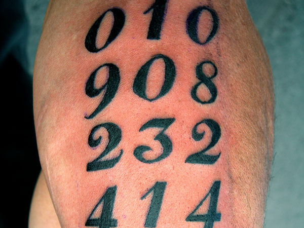 Number Tattoos - 25 Different Designs with Images - Design Press