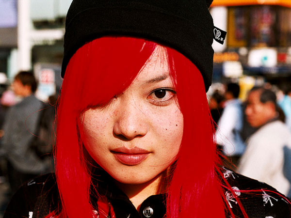 Asian Red Hairstyle