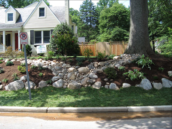landscaping ideas around big rocks