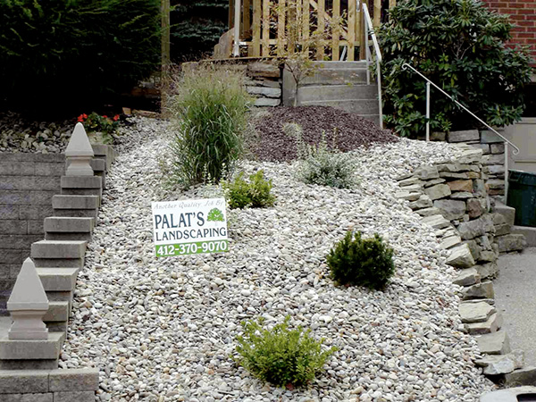Easy Rock Garden Ideas simple rock garden superior simple rock garden ideas with white river stone border Dotted Rock Garden