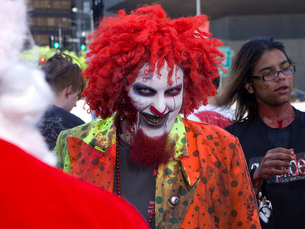 boston zombie march 25 Exceptional Scary Clown Pictures