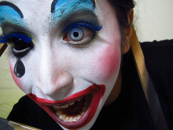 colorful clown makeup 25 Exceptional Scary Clown Pictures