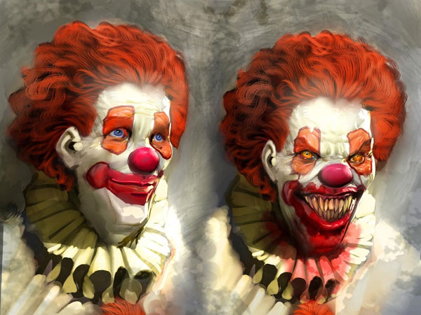 pennywise 25 Exceptional Scary Clown Pictures