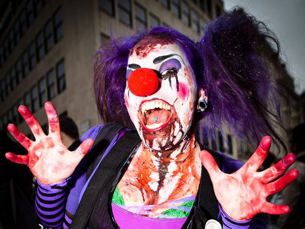 scary clown zombie 25 Exceptional Scary Clown Pictures