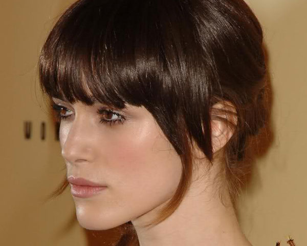 Short Updo With Bangs