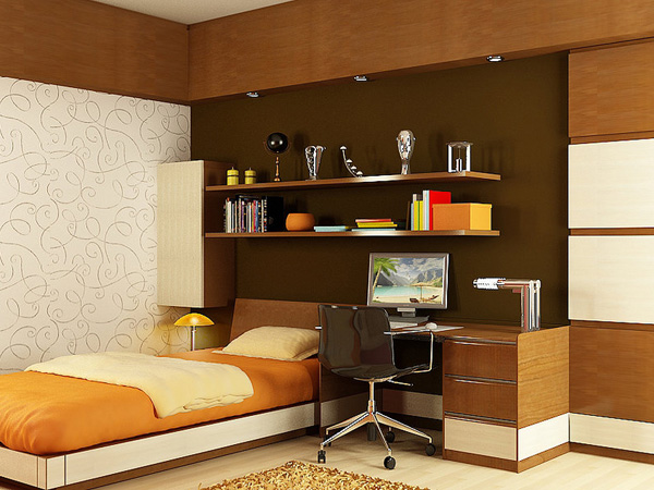 small but sufficient - Single Bed Bedroom Design