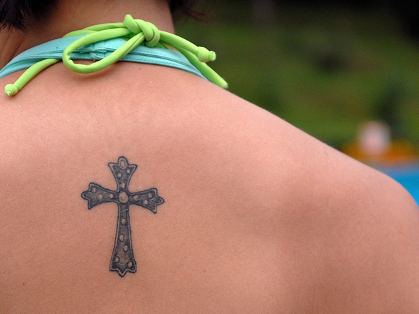 Celtic Small Cross Tattoo