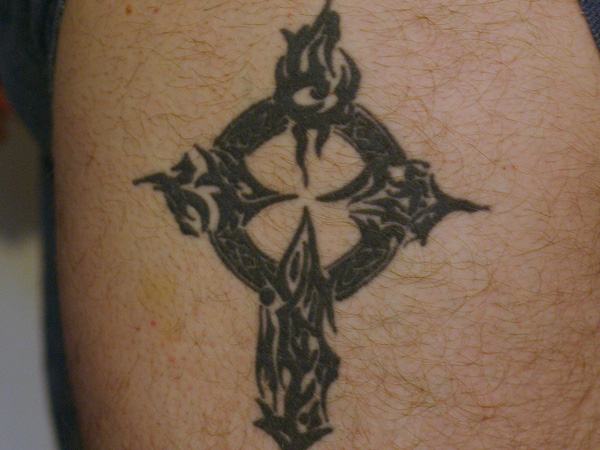Traditional Celtic Cross Tattoo