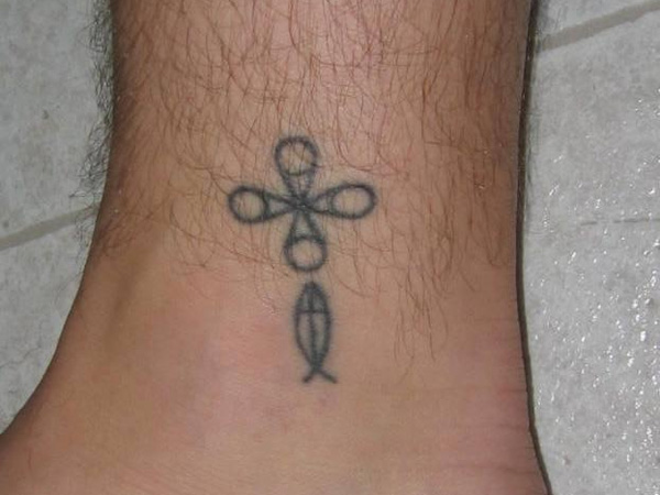 Weird Fish Cross Tattoo