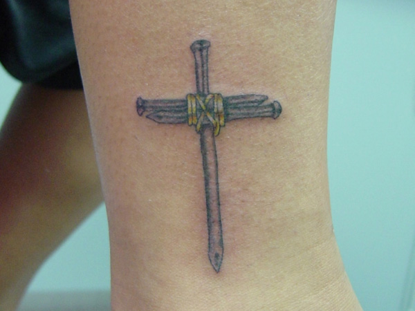 Nails Cross Tattoo