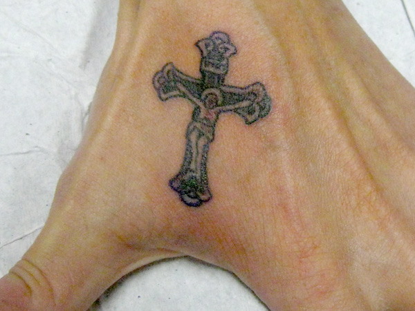 Elaborate Jesus Crucified Tattoo