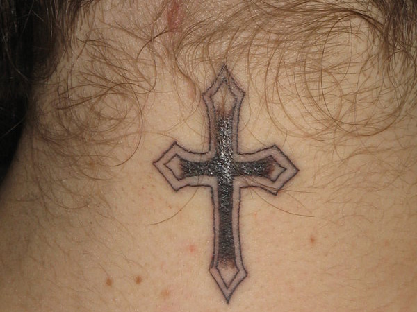 Pointed Ends Cross Tattoo