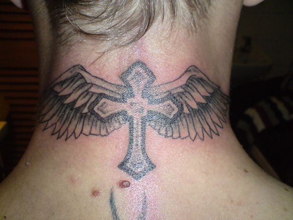 Angel Cross Tattoo