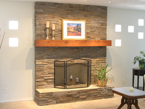 Stone Fireplaces Ideas 25 fascinating stacked stone fireplace designs - slodive