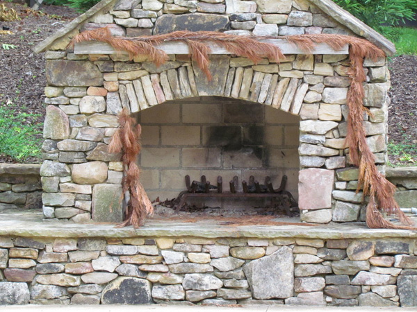 Outdoor Rugged Fireplace