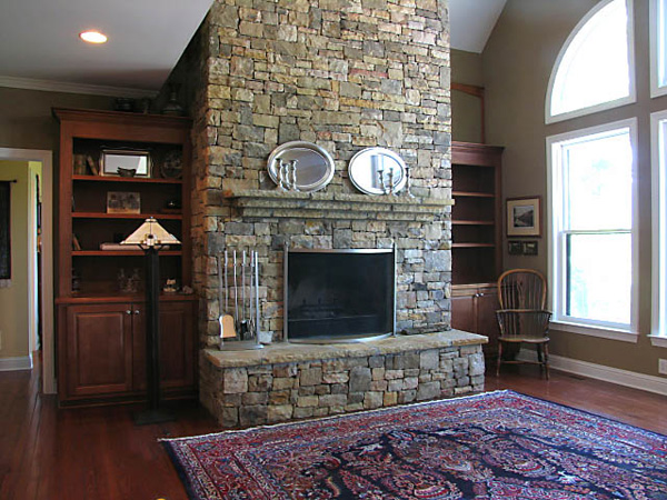 Our Stone Fireplace