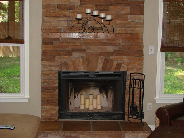 25 Fascinating Stacked Stone Fireplace Designs SloDive
