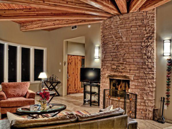 Designer Stone Fireplace