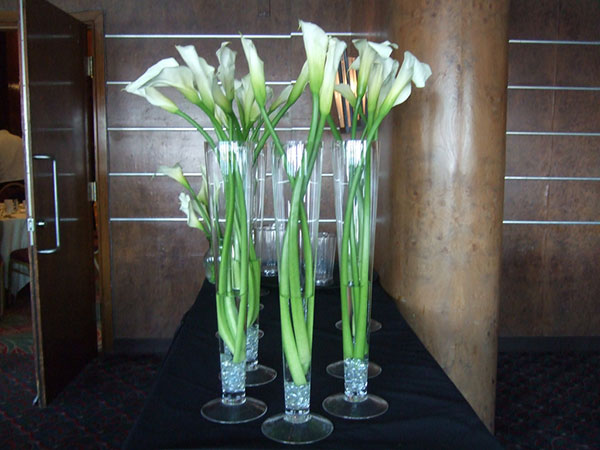Sheer Glass And Lilies