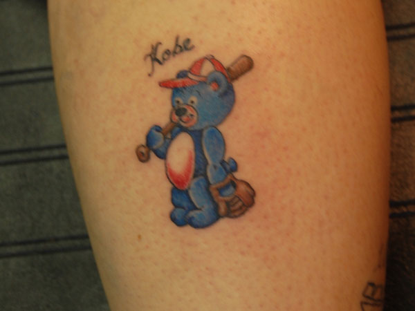 Calf Beary Tattoo