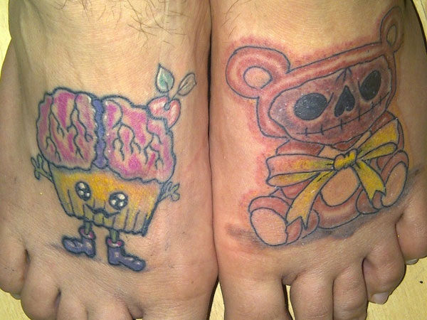 Teddy Foot Tattoo