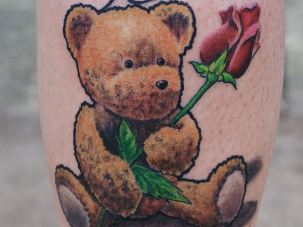 Teddy Bear ILU Tattoo
