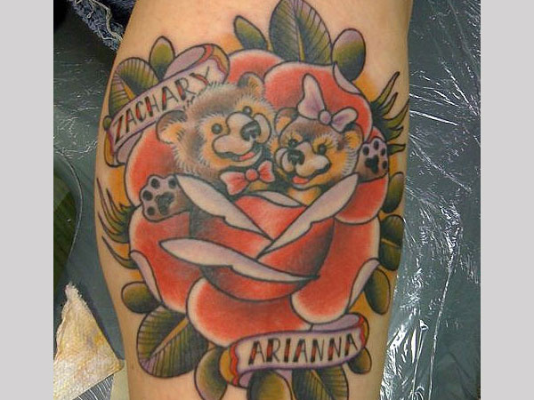 Teddy Bear Love Tattoo