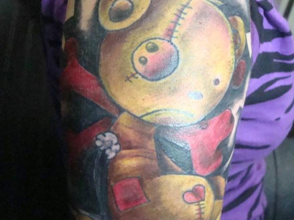 Weird Teddy Bear Tattoo