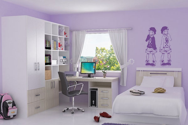 Mauve Smart Bedroom