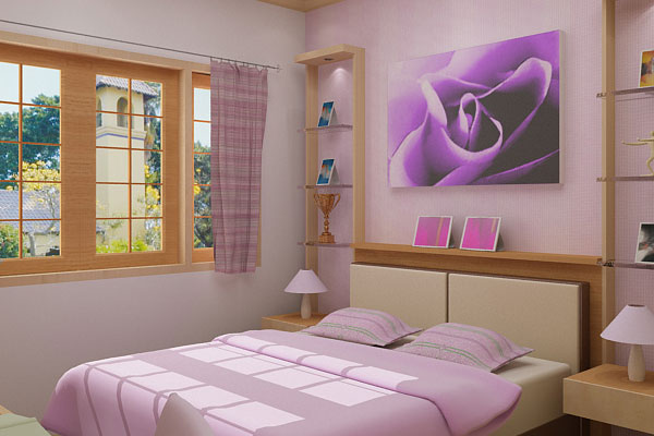 Purple Rose Bedroom