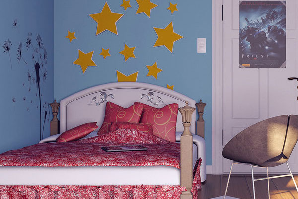 Starry Teenage Girl Bedroom