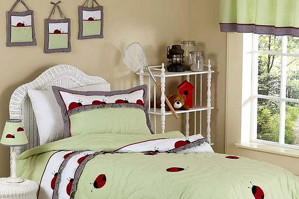 Ladybug Theme Teenage Girl Bedroom