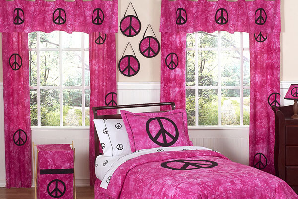 Pink Peace Teenage Girl Bedroom