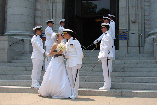 navy wedding 25 Groovy Wedding Hairstyles With Veil
