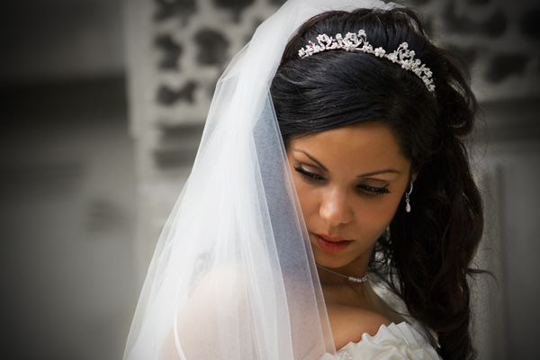 the bride 25 Groovy Wedding Hairstyles With Veil