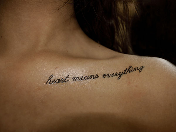 Small Quote Tattoo