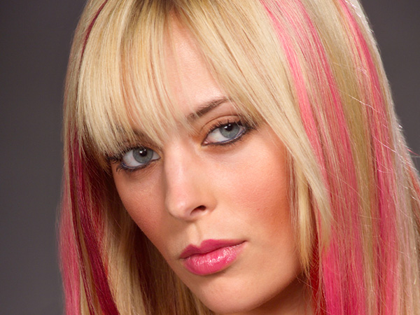 Blonde Pink Hair Color