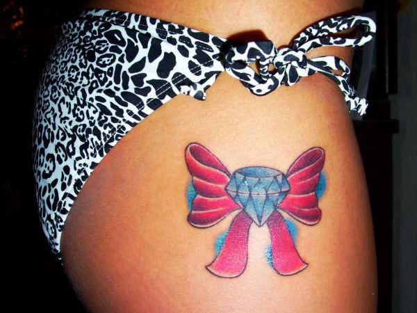 diamond bow 40 Exceptional Bow Tattoos