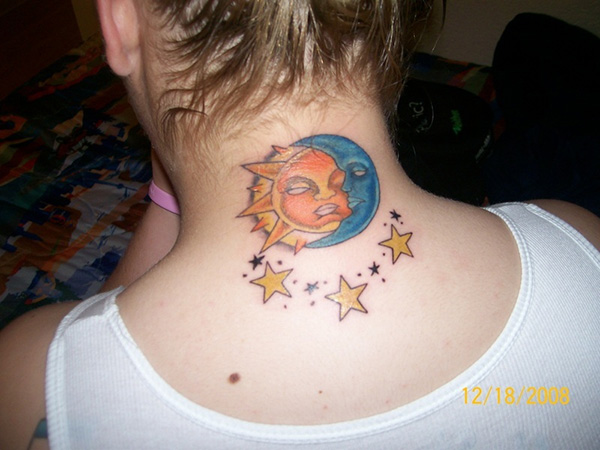 celestial sun and moon 25 Attractive Celestial Tattoos