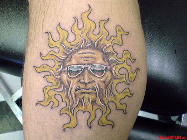 hippie celestial 25 Attractive Celestial Tattoos