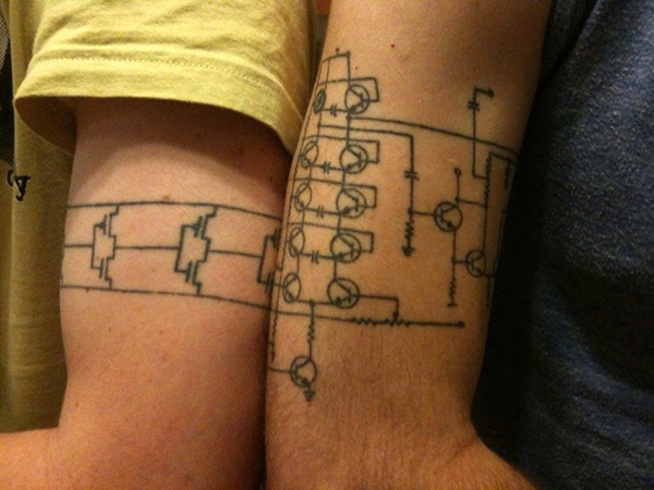 Clever Circuit Tattoos