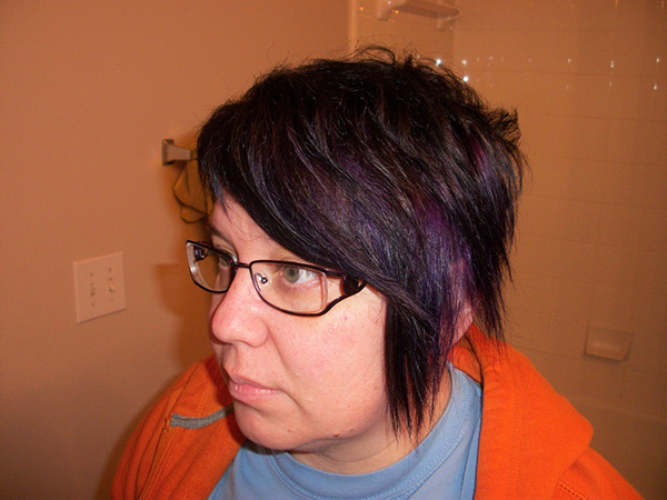 violet highlights 25 Magical Dark Brown Hair Color Ideas