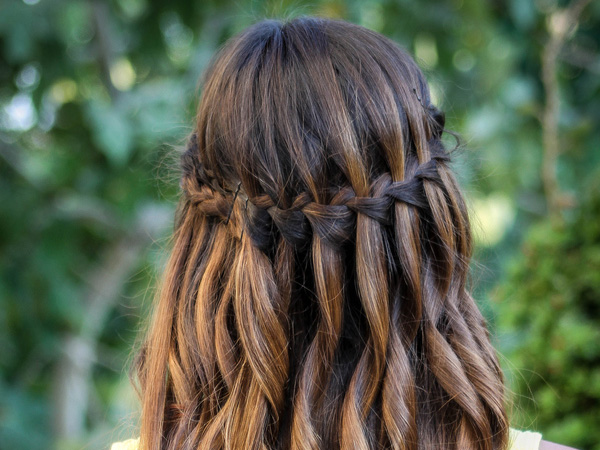 waterfall braid 25 Magical Dark Brown Hair Color Ideas