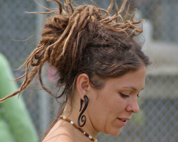 Dreadlocks Updo