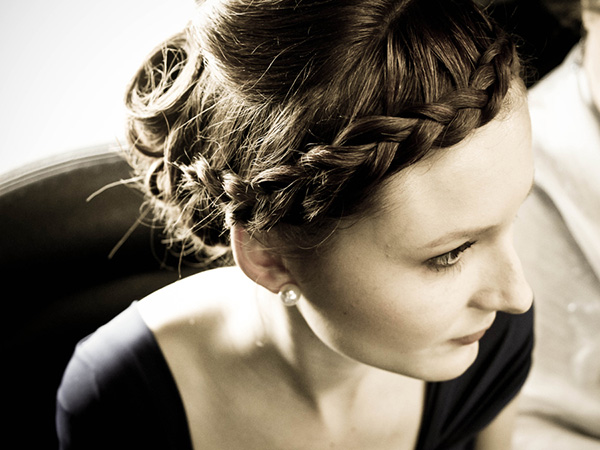 Loose Updo And Braid