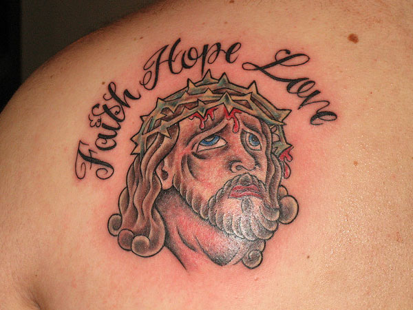 jesus tattoo 25 Precious Faith Hope Love Tattoo