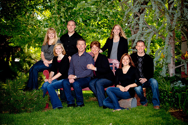 Color Coordinated Family Photography