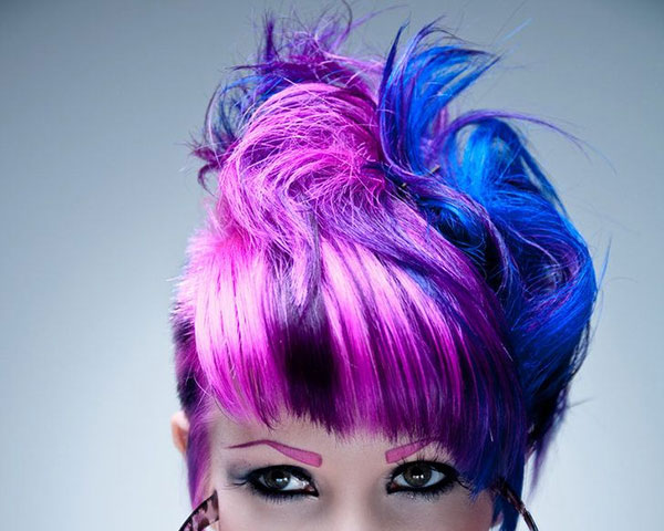 bluepink 25 Unbelievable Fun Hair Color Ideas